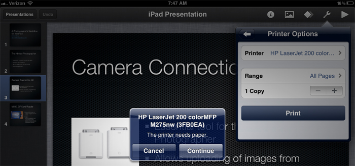AirPlay – AirPrint iPhone 5