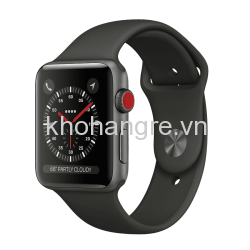 Apple Watch 3 - 42mm Space Gray Aluminum/ Sport Brand Gray (GPS + Cellular) chưa act - Trôi bảo hành