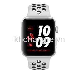 Apple Watch 3 Nike+ - 42mm Silver Aluminum/ Pure Platinum/ Black Nike Sport Band (GPS) (Full VAT)