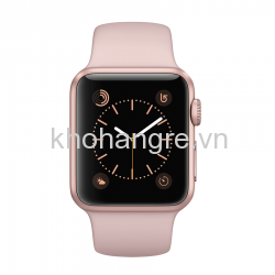 MQ142 - Apple Watch - 42mm Rose Gold Aluminum/ Pink Sand Sport Band (Full VAT)