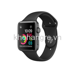 MJ3T2 - Apple Watch - 42mm Space Gray Aluminum/ Black Sport Band (Full VAT)