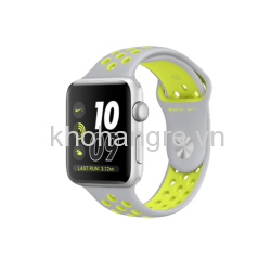 MNNT2 - Apple Watch 2 - 42mm Silver Aluminum/ Flat Silver/ Volt Nike Sport Band (GPS) (Full VAT)