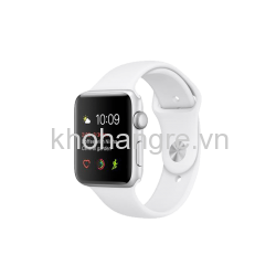 MNNL2 - Apple Watch 1 - 42mm Silver Aluminum/ White Sport Band (GPS) (Full VAT)