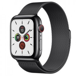 Apple Watch series 5 40mm, Viền Thép, Dây Milanes - Mới 99%